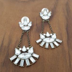 Crystal Art Deco Drop Earrings